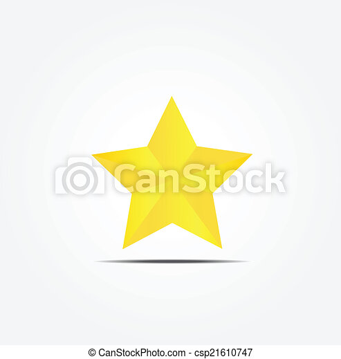 Gold Star Vector Icon Eps Vector Search Clip Art Illustration