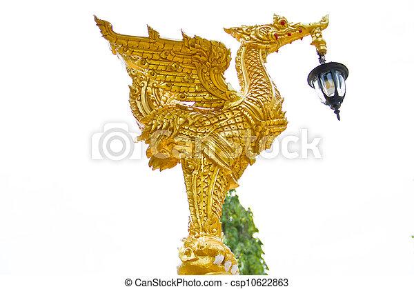gold swan statue - csp10622863