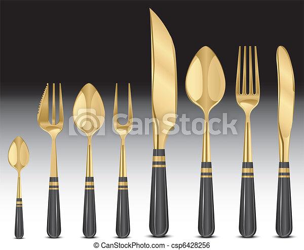 Gold tablewares  - csp6428256
