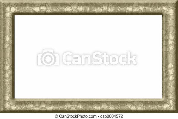 Gold Textured Frame - csp0004572