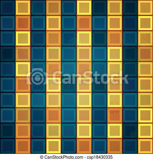 gold tiles seamless pattern - csp18430335