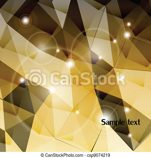 Gold triangle background. Vector - csp9074219