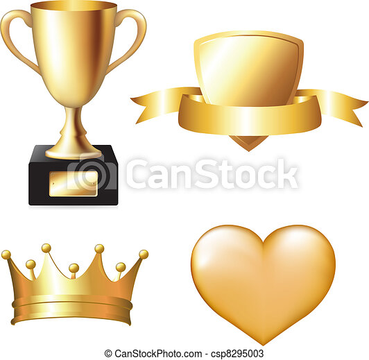 Gold Trophy Set - csp8295003