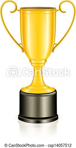 Gold trophy, vector - csp14057512