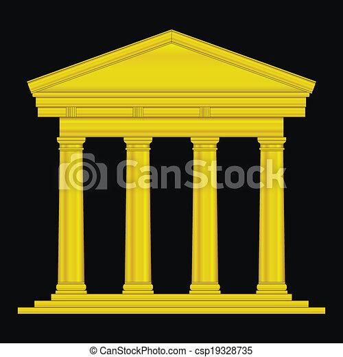Gold tuscan temple - csp19328735