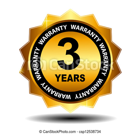 Gold vector guarantee sign, warranty label - csp12538734
