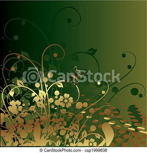Gold vegetative ornament - csp1999838