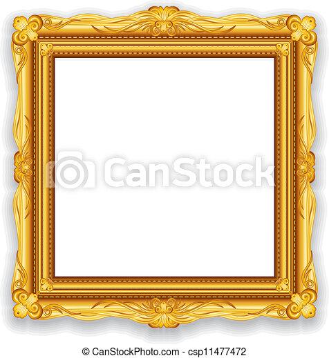 Gold Vintage Frame - csp11477472
