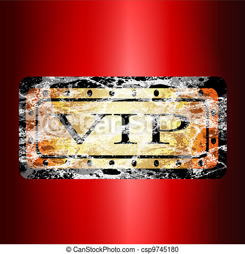 Gold VIP card. - csp9745180