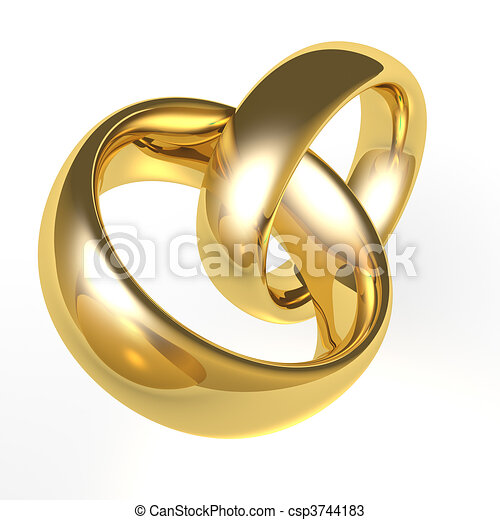 Gold Wedding Bands A Set Of Gold Wedding Rings