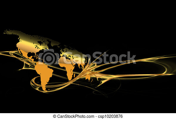 Gold world map abstract dark background with a gold map of gold world map csp10203876 gumiabroncs Images