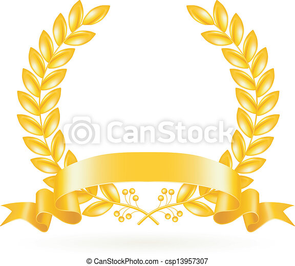 Gold Wreath, vector - csp13957307