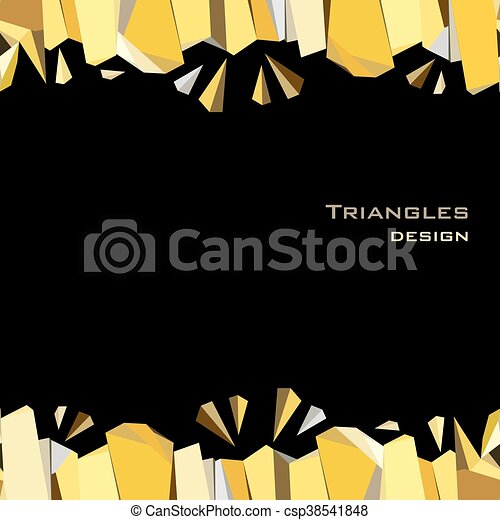 Golden abstract geometric background