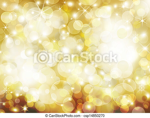 golden Abstract holiday background - csp14850270