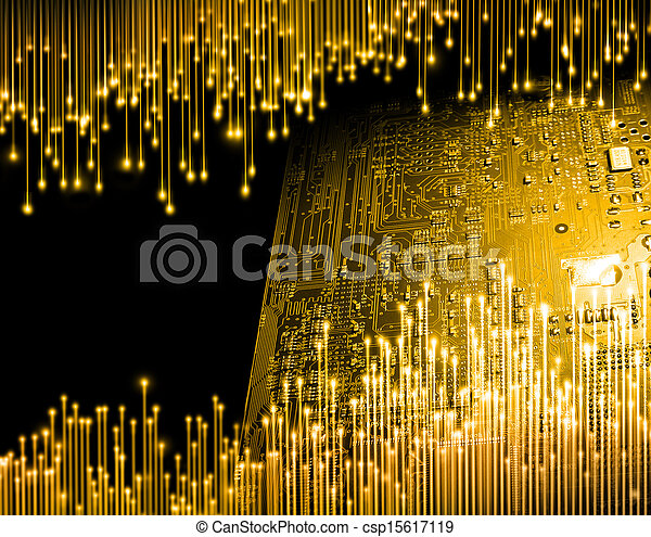 Golden age of computer technology - csp15617119