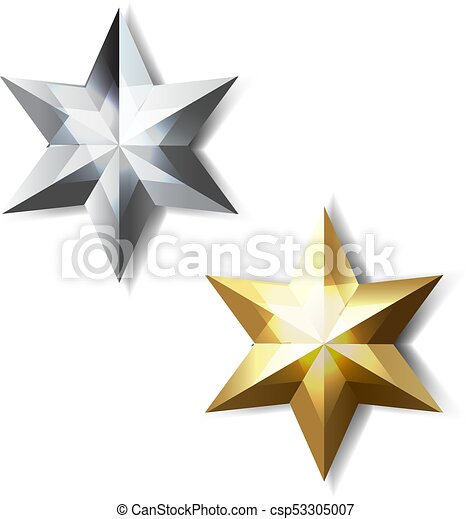 Golden And Silver Stars - csp53305007