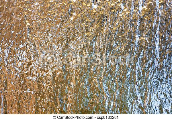 golden background water - csp8182281