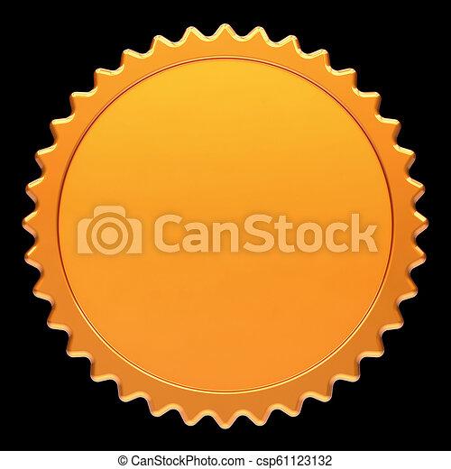 Golden Badge Blank Template Award Medal Winner Design Element