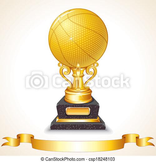Golden Basketball Cup - csp18248103