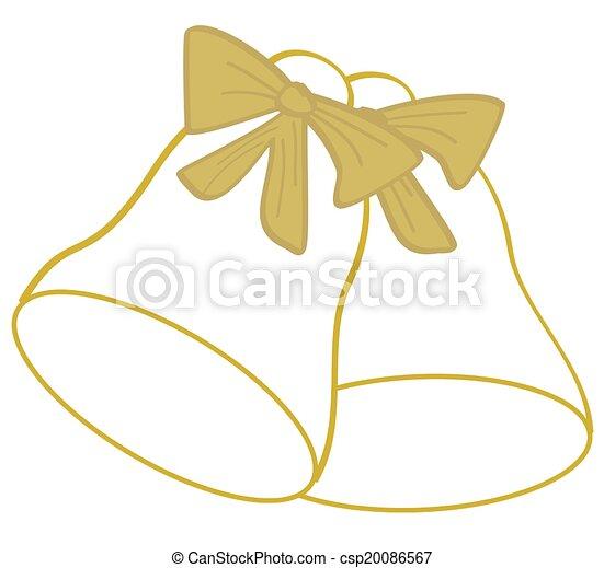 Golden Bells Outline - csp20086567