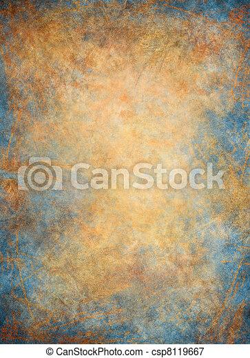 Golden Blue Background - csp8119667