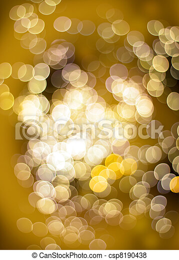Golden bokeh light effect - csp8190438