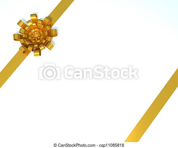 Golden bow - csp11085818