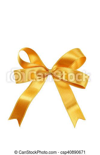 Golden bow - csp40890671