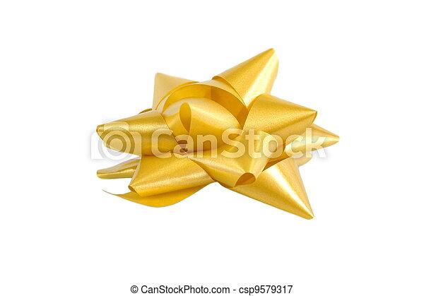 Golden bow - csp9579317