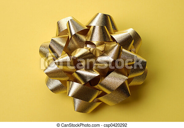 Golden Bow Wrapping - csp0420292