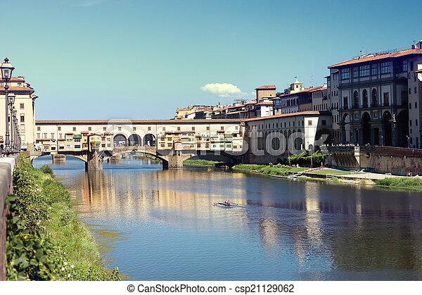 Golden Bridge in Florence - csp21129062