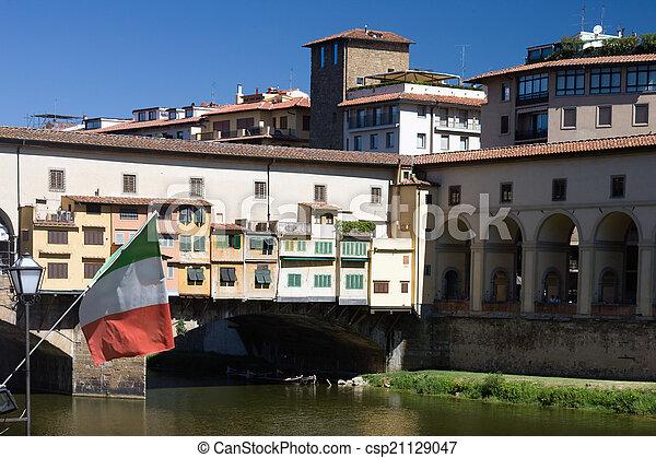 Golden Bridge in Florence - csp21129047
