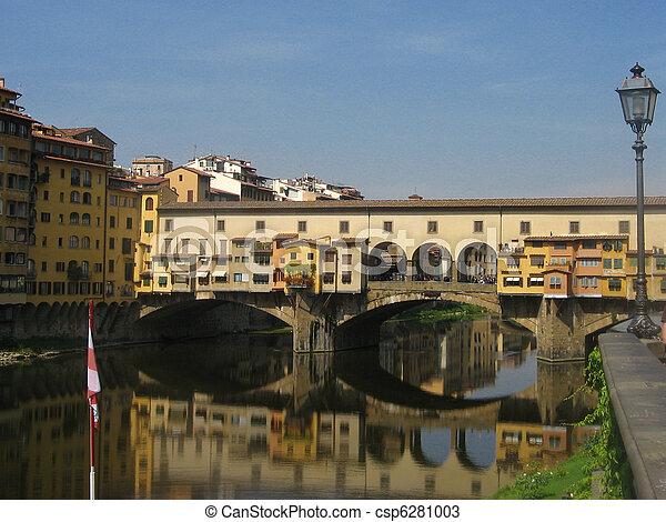 Golden bridge in Florence - csp6281003