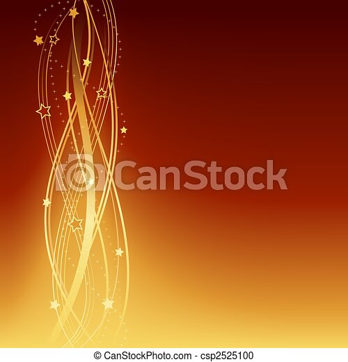 Golden brown festive Christmas, New Years, anniversary background - csp2525100