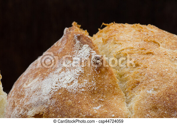 Golden Brown Scoring on top of French Roll - csp44724059