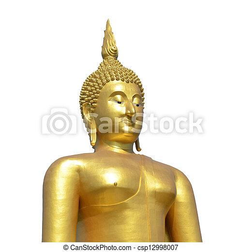 Golden Buddha statue at Wat Muang in Angthong, Thailand - csp12998007
