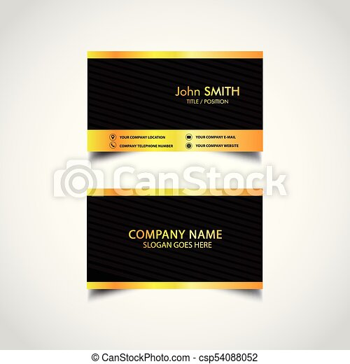 Golden business card template vector illustration eps clipart golden business card template csp54088052 accmission Image collections