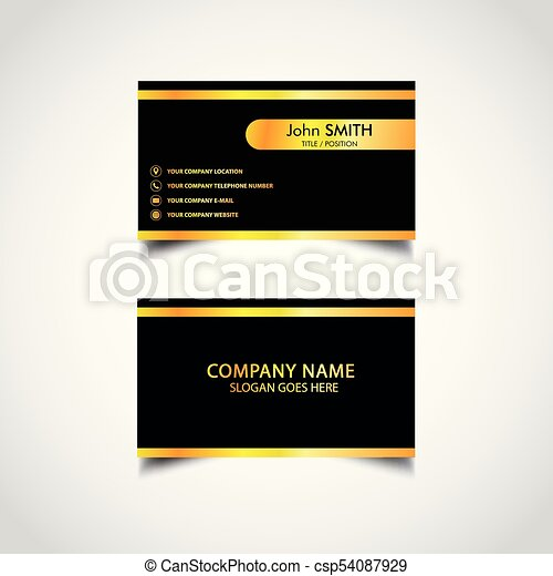 Golden business card template vector illustration eps file golden business card template csp54087929 cheaphphosting Image collections