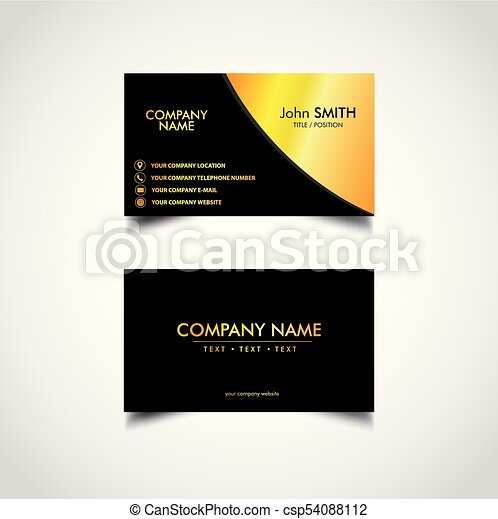 Golden business card template vector illustration eps file golden business card template csp54088112 cheaphphosting Gallery