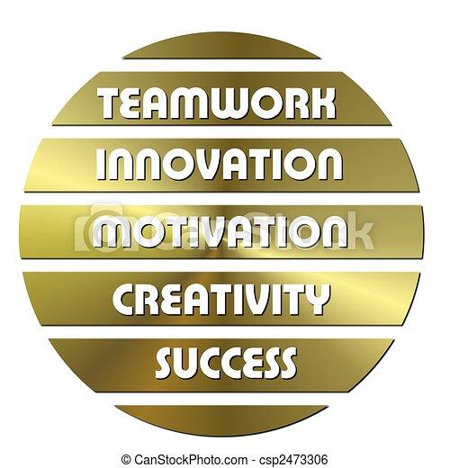Golden Business motivation slogans - csp2473306