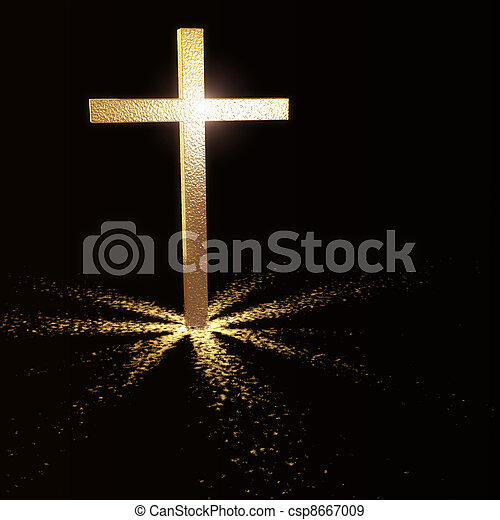 golden christian cross - csp8667009