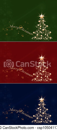 Golden Christmas 2 - csp10504117