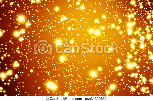 Golden Christmas Background Holiday White Lights With Gold Bokeh