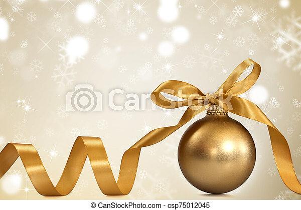 Golden christmas background - csp75012045