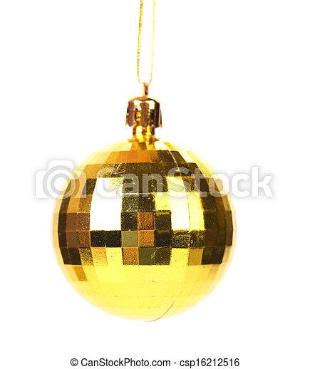 Golden christmas ball. - csp16212516