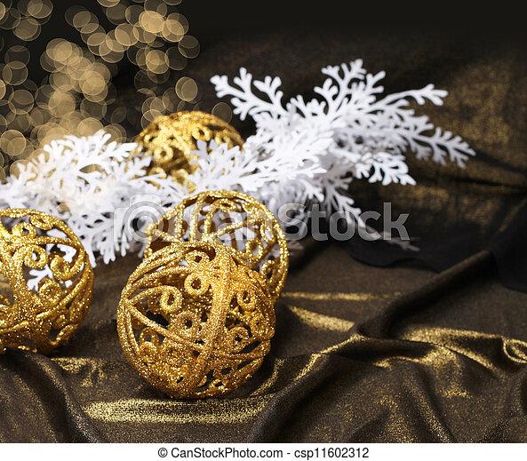 Golden Christmas decoration - csp11602312