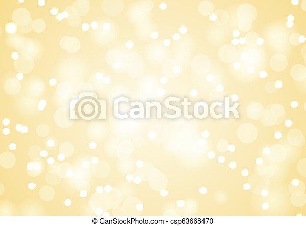 Golden Christmas lights background - csp63668470