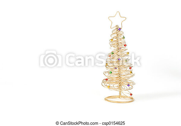 Golden Christmas Tree   Csp0154625