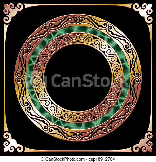 golden circle frame - csp18912704