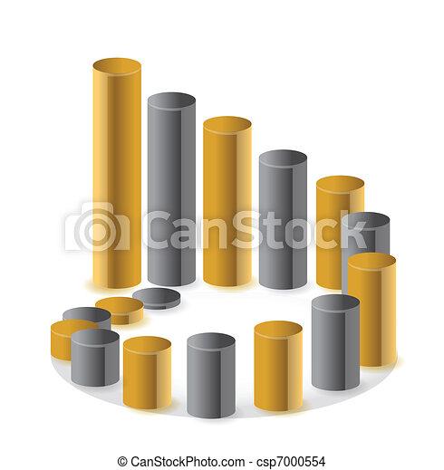 Golden circular business chart - csp7000554